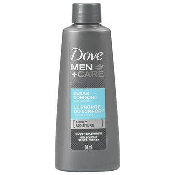 Dove Men+Care Clean Comfort Body & Face Wash - 88ml
