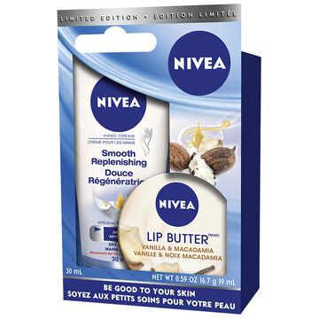 Nivea Hand Cream and Lip Butter - 30ml - 19ml