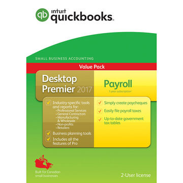 Intuit QuickBooks Desktop Premier 2017 with Payroll - English Accounting Software