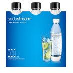Soda Stream Carbonating Bottle - Black - 3 pack