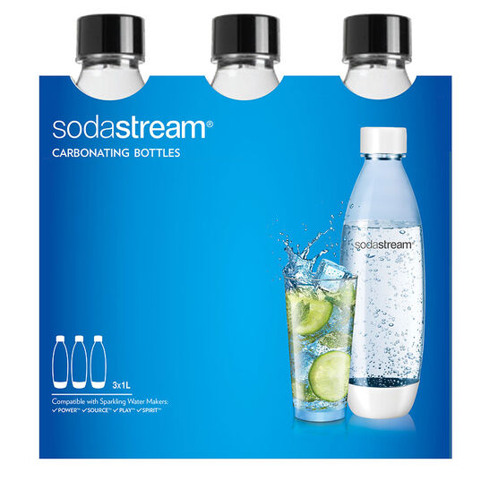 SodaStream Carbonating Bottle - Black - 3 pack