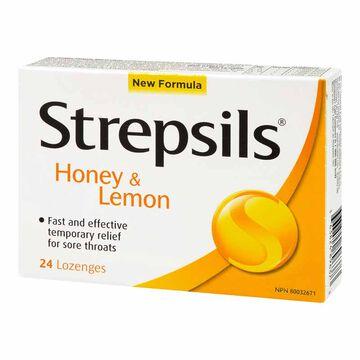 Strepsils Lozenges - Honey & Lemon - 24's