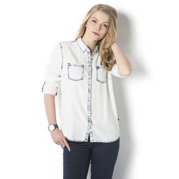Lava Long Sleeve Denim Shirt - Light Denim - K-RAZILA