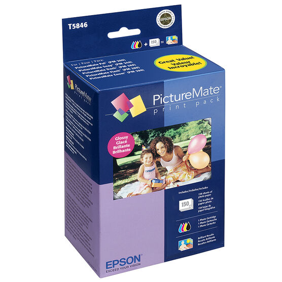 Epson PictureMate 200 Series Print Pack - Glossy - T5846
