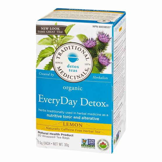 Traditional Medicinals Herbal Tea - Organic Lemon EveryDay Detox - 20's