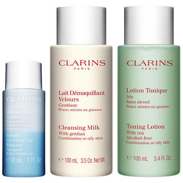 Clarins Cleansing Trio - Combination to Oily Skin - 3 piece
