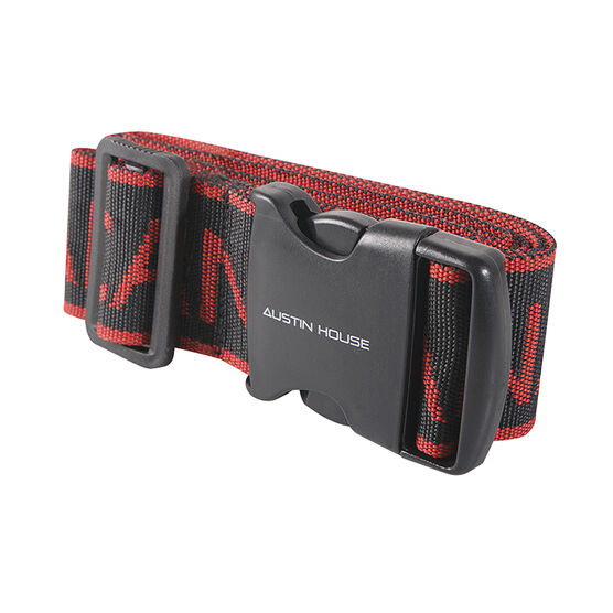 Austin House Canada Luggage Strap - Red/Black