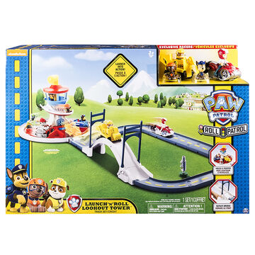 Paw Patrol Launch n' Roll Lookout Tower Track Set Circuit