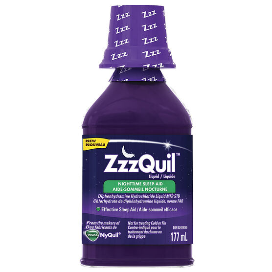 ZzzQuil Liquid Nighttime Sleep Aid - Berry - 177ml