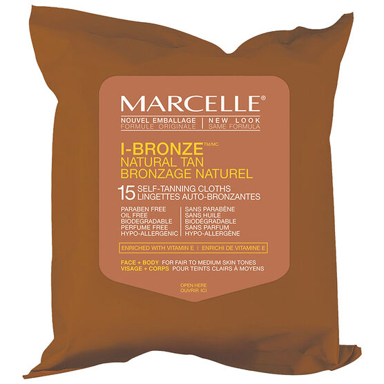 Marcelle I-Bronze Self Tanning Cloths - Fair to Medium Skin Tones - 15's