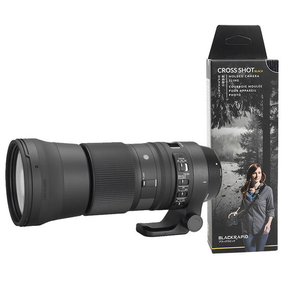 Sigma 150-600mm DG OS Lens for Canon with BlackRapid Cross Shot Strap - PKG 24747