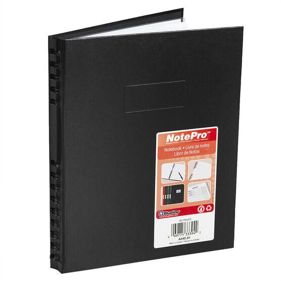 Blueline NotePro Ruled & Quad Notebook - 192 pages - Black