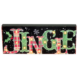 Christmas Forever Jingle LED Sign - 13.5in - XM-JC5097