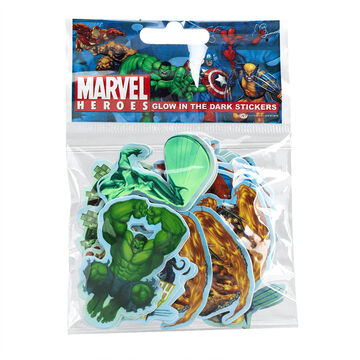Marvel Heroes Glow in the Dark Stickers