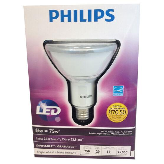 Philips LED Par30L Dimmable Light Bulb - Bright White