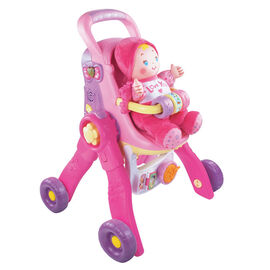 Baby Amaze 3-in-1 Care and Learn Doll Stroller