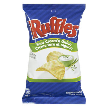 ruffles potato chips sour cream onion 66g london drugs. Black Bedroom Furniture Sets. Home Design Ideas