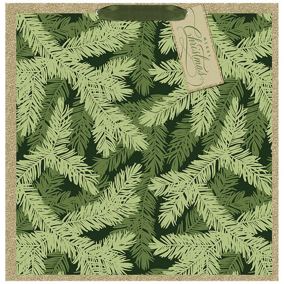 Hallmark Pine Pattern Gift Bag - Extra Large - Elegant Golds - 0549XGB1280