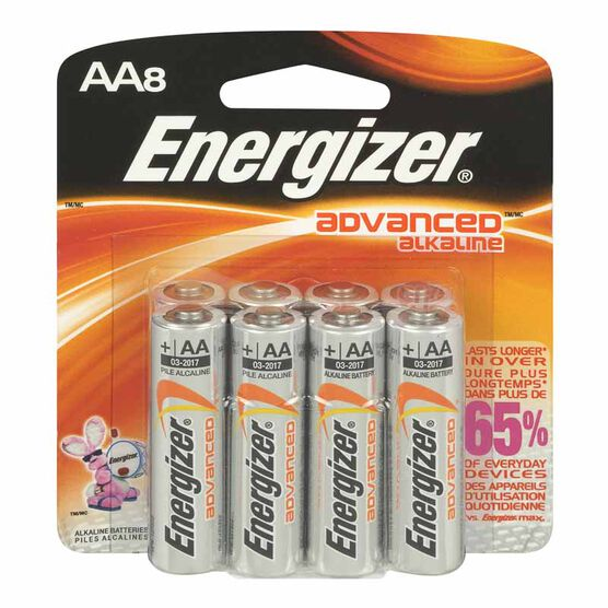 Energizer Advanced Alkaline AA Batteries - 8 pack