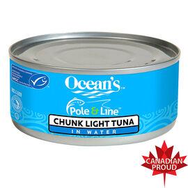 Ocean's Pole & Line Chunk Light Tuna in Water - 170g
