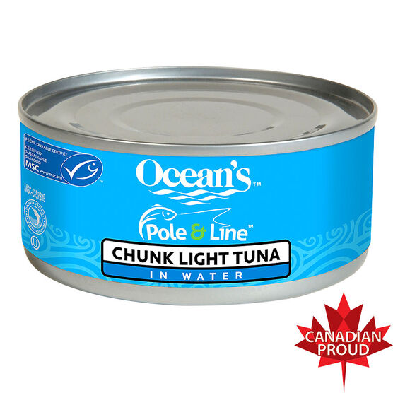 Ocean's Pole & Line Chunk Light Tuna in Water - 170g