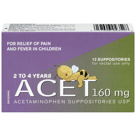 Acet 160mg Child Suppositories - 12's