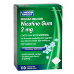 London Drugs Regular Strength Nicotine Gum 2mg - Menthol Extreme - 110's