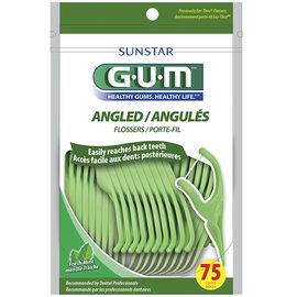 G.U.M Angled Flossers - Fresh Mint - 75's