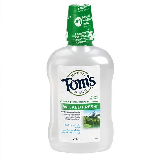 Tom's of Maine Wicked Fresh Mouthwash - Cool Mountain Mint - 473ml