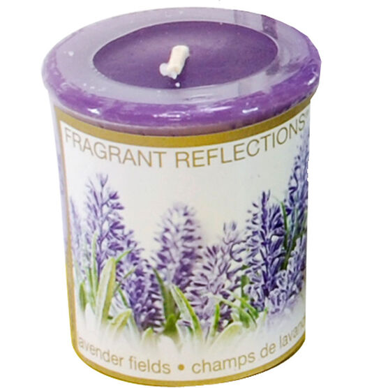 Fragrant Reflection Votive Candle - Lavender Fields