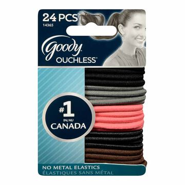 Goody Ouchless Elastics - Cherry - 24's