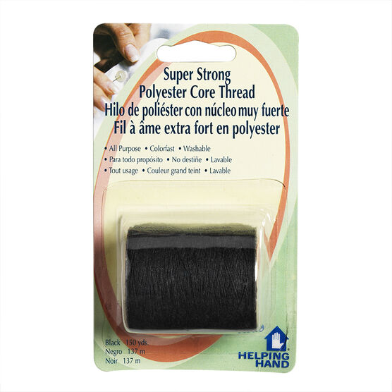 Helping Hand Super Strong Polyester Core Thread - Black