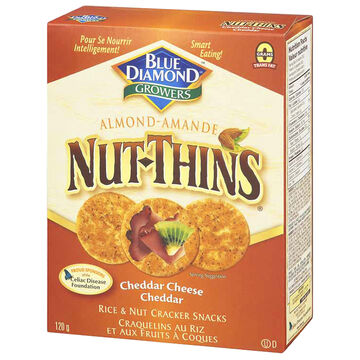 Blue Diamond Nut-Thins - Cheddar Cheese - 120g
