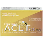 Acet 325mg Child Suppositories - 12's