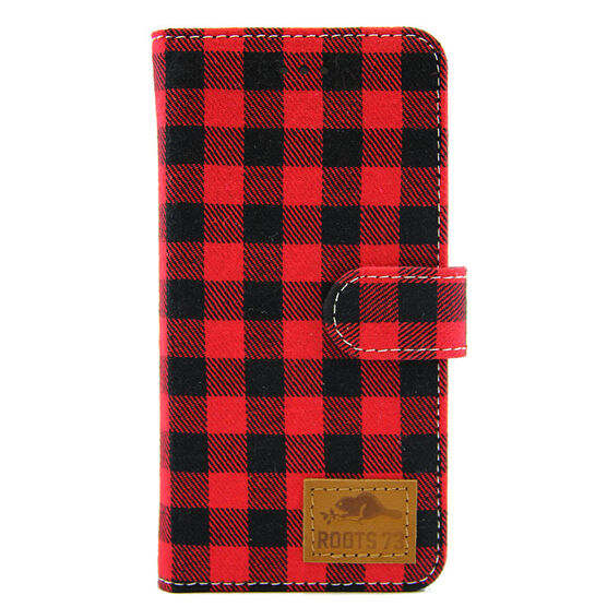 Roots 73 Plaid Folio Case - Red/Black - RPLSIP6