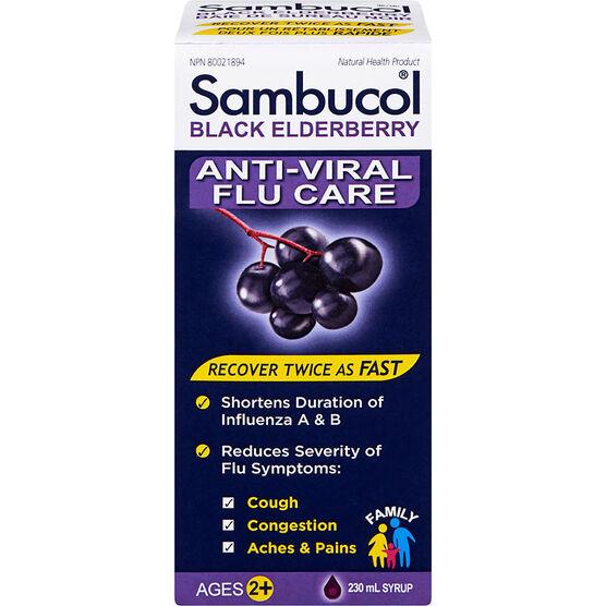 Sambucol Black Elderberry Anti-Viral Flu Care - 230ml