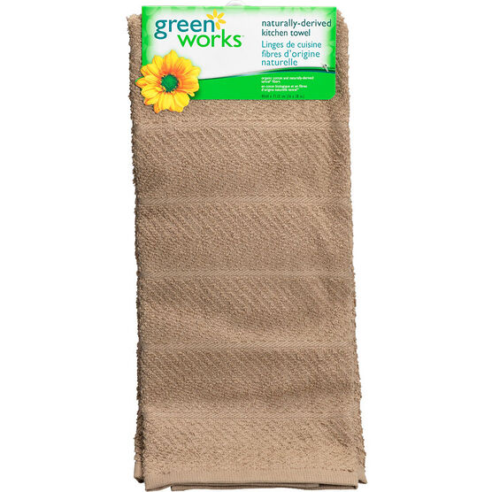 Green Works Kitchen Towel - Solid Tan