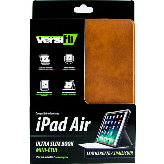 Versifli Ultra Slim Book for iPad Air - Brown - FLI-5028BRN