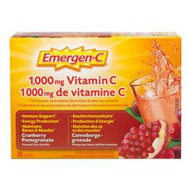 Emergen-C - Cranberry Pomegranate  - 30's