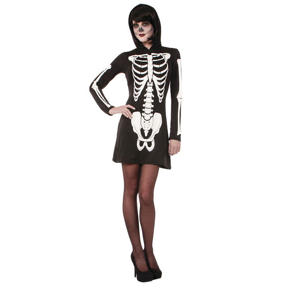 Halloween Hood Skeleton Dress