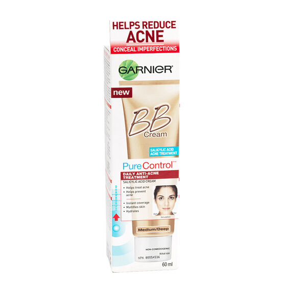 Garnier Pure Control BB Cream Anti-Acne Treatment - Medium/Deep - 60ml