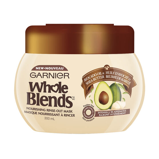 Garnier Whole Blends Nourishing Rinse-Out Mask - Avocado Oil & Shea Butter - 300ml