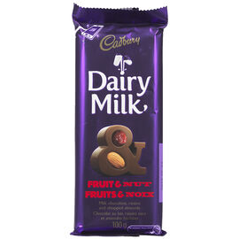 Cadbury Bar - Fruit & Nut - 100g