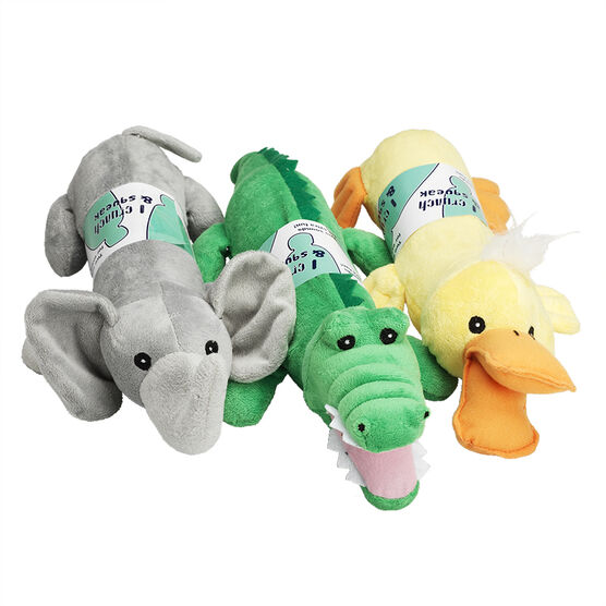 Squeak Bottle Critter Dog Toy - Assorted