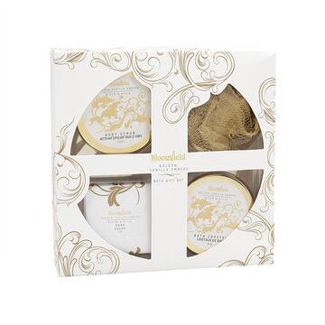 Bloomfield Bath Gift Set - Golden Vanilla Embers - 4 piece