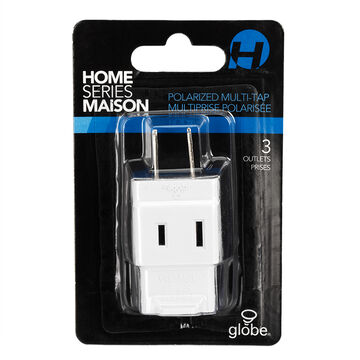 Globe Multiplus 3-outlet - White - 60002