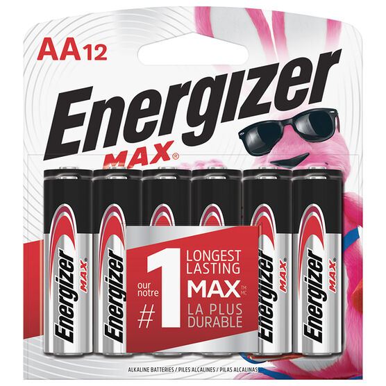 Energizer Max AA Batteries - 12 pack
