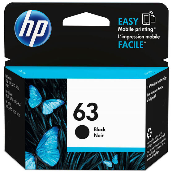 HP 63 Ink Cartridge - Black - F6U62AN#140