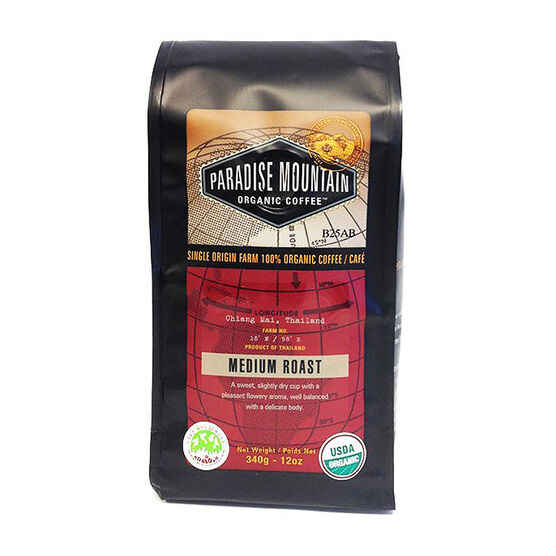 Paradise Mountain Organic Coffee - Medium Roast - 340g