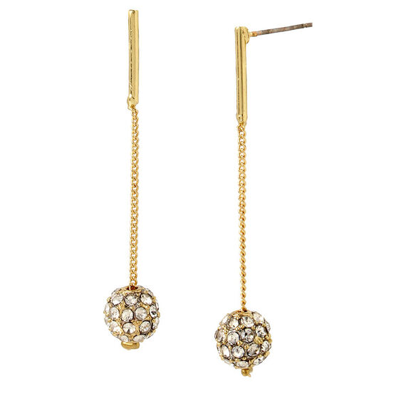 Haskell Crystal Ball Earrings - Gold